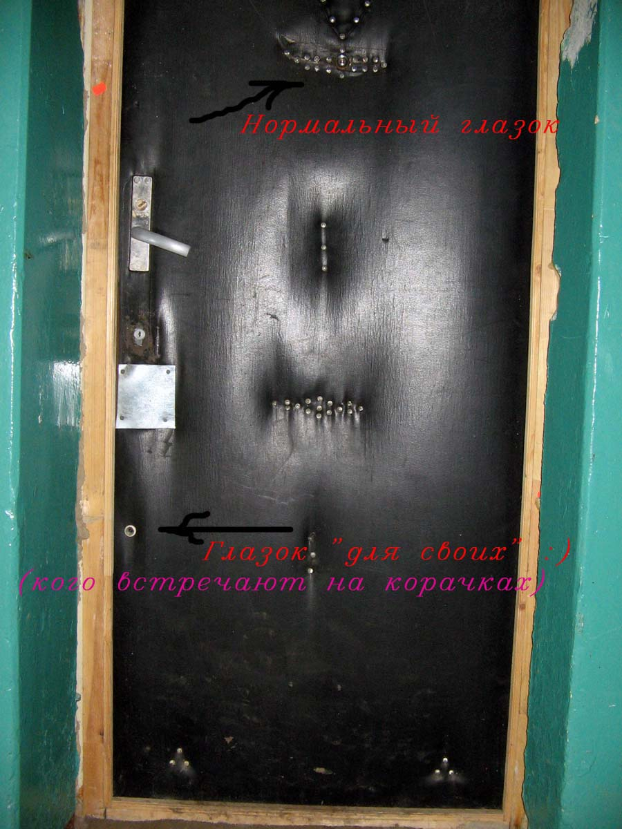 Дверь с чудно расположенным глазком
