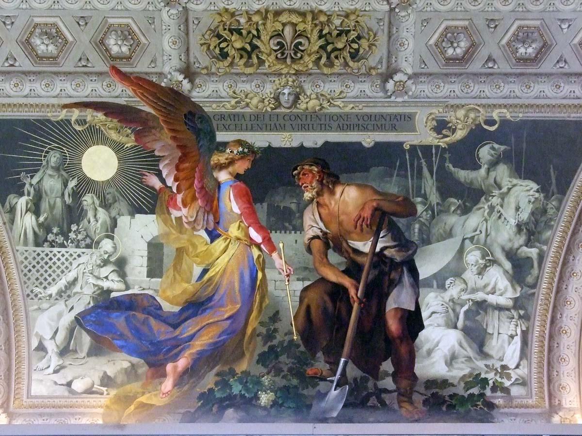 Одна из сотен картин, написанных на сводах Ватиканского музея