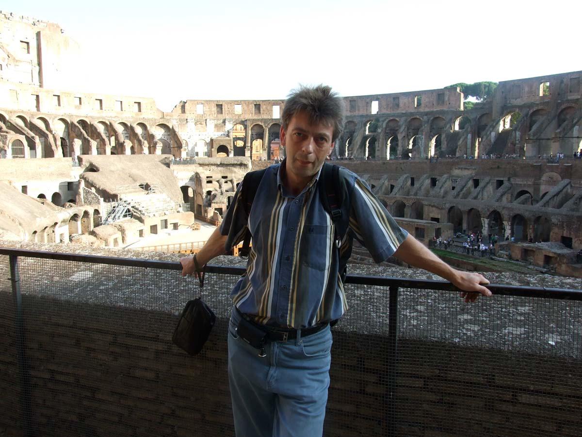 На верхнем этаже Колизея