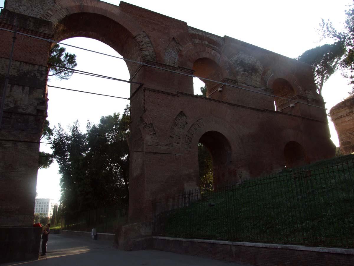 Остатки древнейших стен Рима