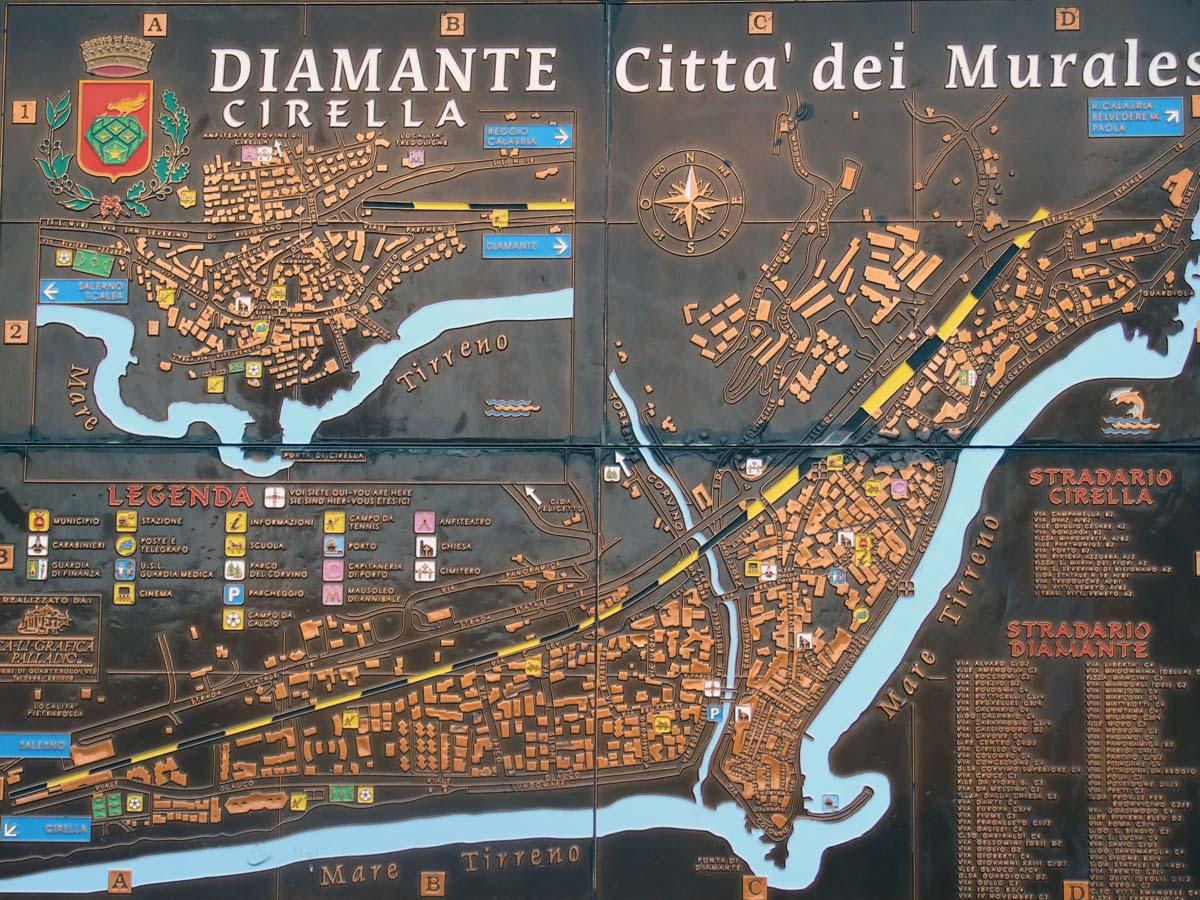 Схема города Диаманте
